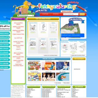 Coloring pages at FunnyColoring.com