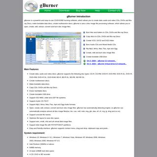 gBurner - A powerful CD, DVD and BD burning software