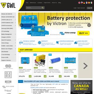 Battery and Solar distributor in EU - shop.GWL.eu