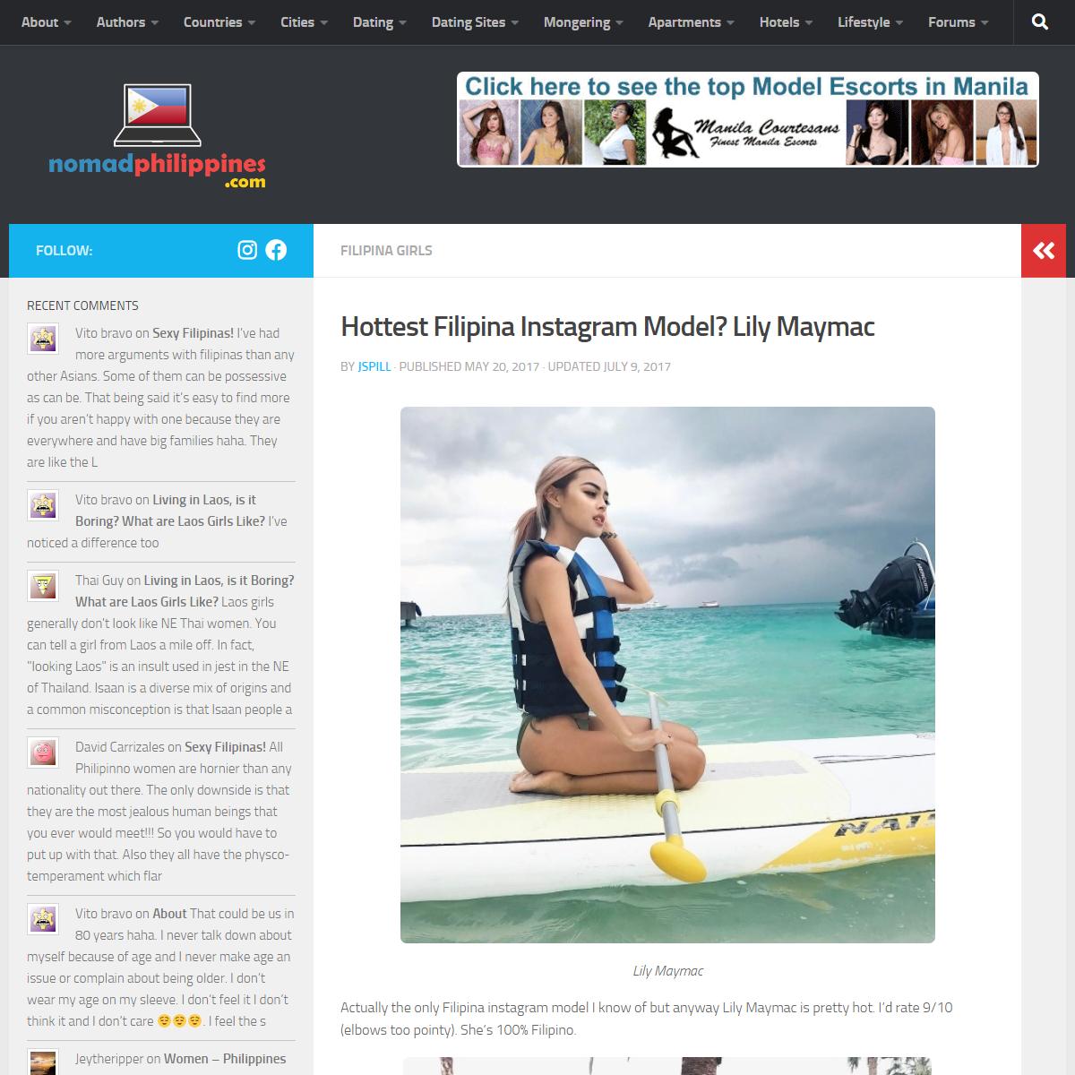 Hottest Filipina Instagram Model- Lily Maymac