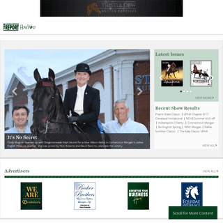 Home - The Saddle Horse Report