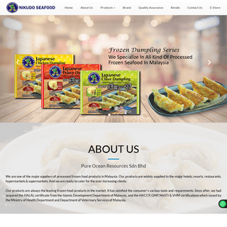 Pure Ocean Resources Sdn Bhd - frozen food products Malaysia