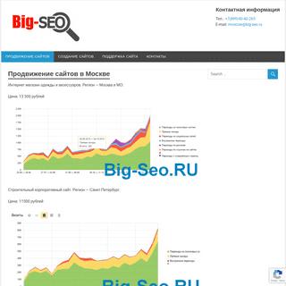 Продвижение сайтов в Москве - веб студия BIGSEO