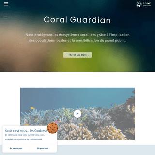Coral Guardian - Conservation et protection des récifs coralliens