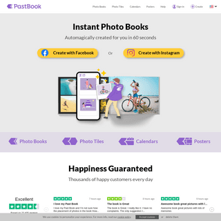 One Click Photo Products - PastBook