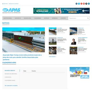 APAS – Associação Paulista de Supermercados – Entidade de classe que reúne empresários supermercadistas do Estado de Sã