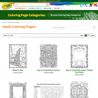 Adult Coloring Pages - Free Coloring Pages - crayola.com