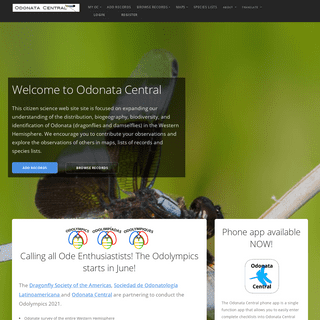 Odonata Central - Dragonfly & Odonate Taxonomy and Sightings