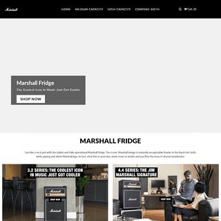 Marshall Fridge- Official Website for the Marshall Mini Fridges