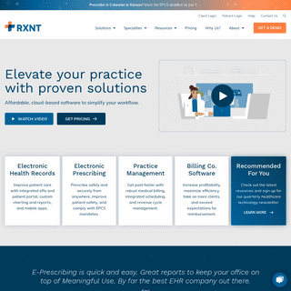 RXNT - Cloud-Based, Integrated Healthcare Software