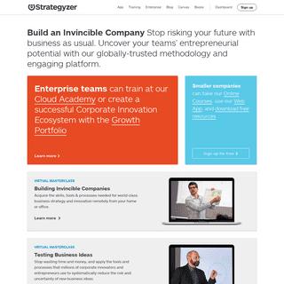 Strategyzer - Corporate Innovation Strategy, Tools & Training