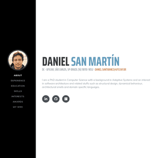 Daniel San Martín`s Web Page