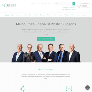 Plastic Surgeons - Coco Ruby Plastic Surgery