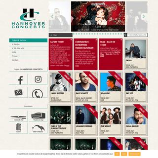Hannover Concerts - Konzertveranstalter für Rock- und Pop Konzerte