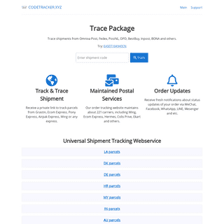 CODETRACKER - Universal Shipment Tracking Webservice