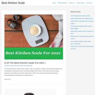 Best Kitchen Scale - Best Kitchen Scale