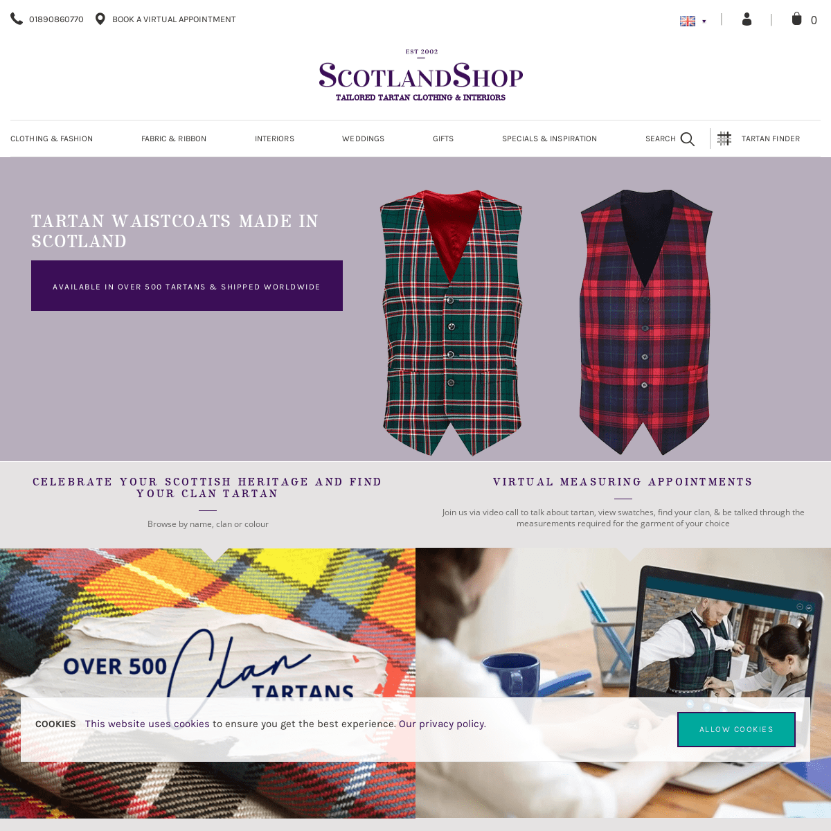 Scotland Shop - Tartan Gifts & Accessories - Made in Scotland