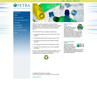 Pet Resin Association - The PET Resin Association - PETRA