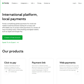 Fondy - Online Payment Gateway & Payment Proccessing
