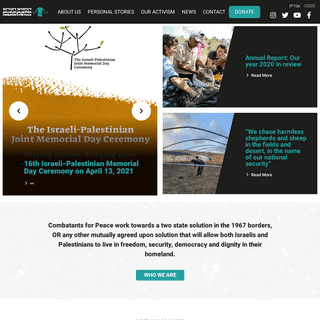 homepage - Combatants for Peace