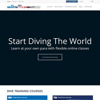 Learn to Dive - SDI - TDI - ERDI - PFI