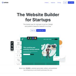 Umso- The Website Platform for Startups