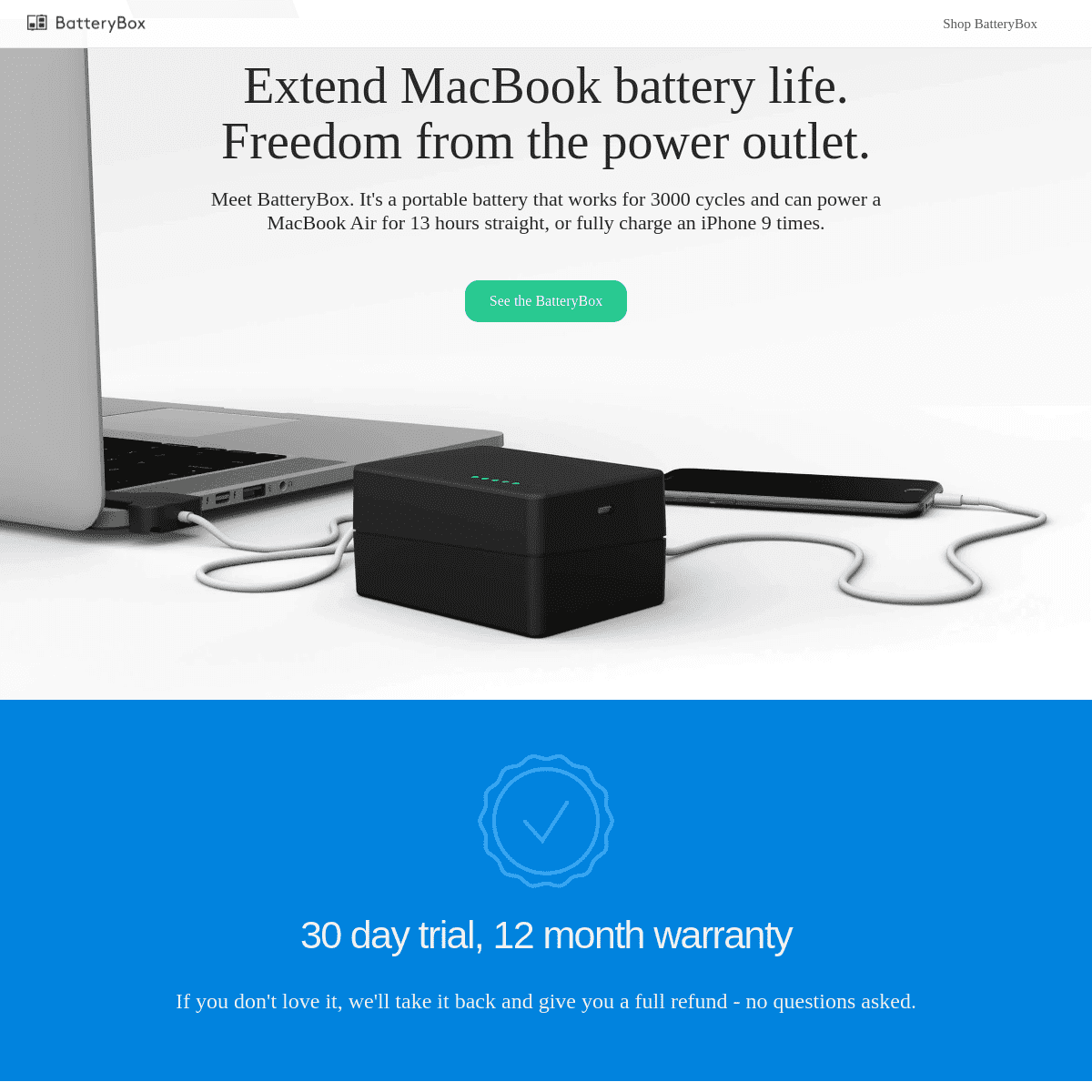 BatteryBox • BatteryBox Slim - Sleek and powerful external battery for any laptop