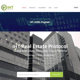 IHT - I-House Token - Real Estate Blockchain Platform