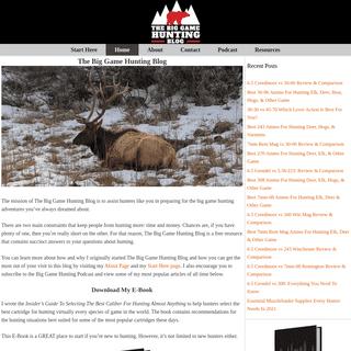 The Big Game Hunting Blog
