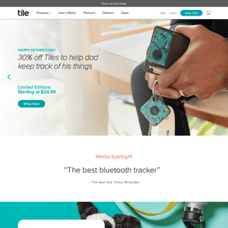 Find Your Keys, Wallet & Phone with Tile's App and Bluetooth Tracker Device - Tile