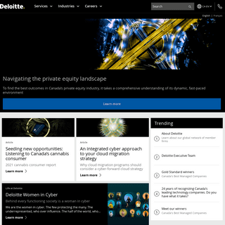 Audit, Consulting, Financial Advisory, Risk Management & Tax services and reports - Deloitte Canada