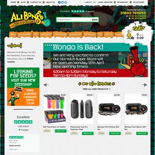 Online Headshop - Ali Bongo - Seeds - Pipes - Bongs & more! - Ali Bongo