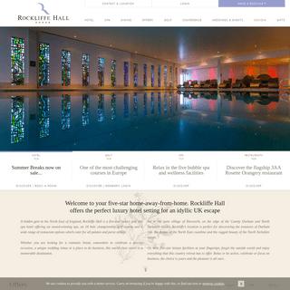 Spa Hotels UK, Spa Hotels North East, Hotels Darlington - Rockliffe Hall