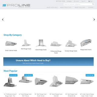 Proline Range Hoods - Large Selection of Quality Range Hoods