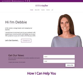 Debbie Taylor - a life mentor, energy healer and metaphysical teacher