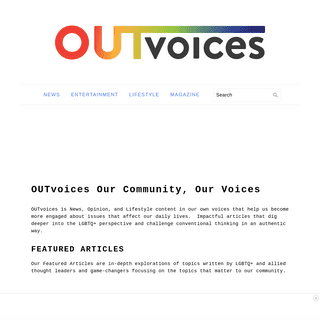 OUTvoices Our Community, Our Voices - OUTvoices