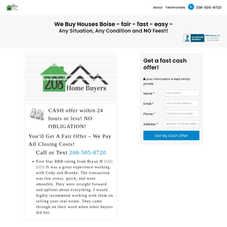 Sell My House Fast For Cash Boise - We Buy Houses Nampa - 208 Home Buyers Idaho