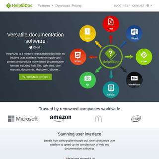 HelpNDoc Help Authoring Tool - Create Help Files, User Manuals and eBooks - HelpNDoc