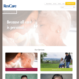 ResCare Human Services - HomeCare, Residential, Youth Services, Workforce