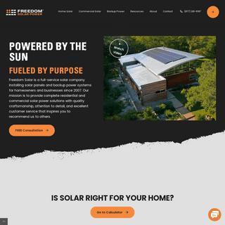 Residential-Home Solar Panels - Commercial Solar - Freedom Solar