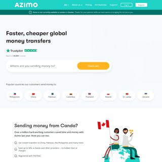 Send money from Canada - Get faster, cheaper global money transfers