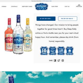 Home - Deep Eddy VodkaDeep Eddy Vodka — Authentic American