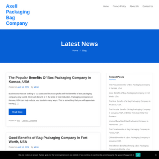 Axell Packaging Bag Company