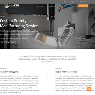 Rapid Prototyping Services & Rapid Manufacturing - WayKen