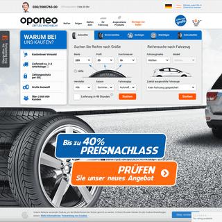 Reifen günstig online kaufen » Oponeo.de