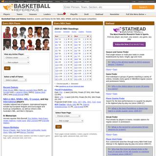 Basketball Statistics and History - Basketball-Reference.com