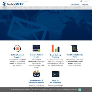 turboSMTP mail server - Professional SMTP Service Provider