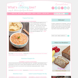 Whats Cooking Love- - Easy & Delicious Food From The Heart