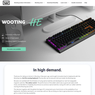 A complete backup of https://wooting.nl