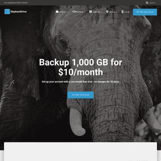ElephantDrive – Never Forgets.